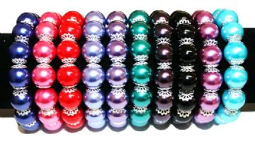 14mm Filigree  pearl bracelet kit 9 pce ( £1 each)
